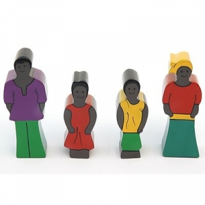 Holzfamilie Afrika