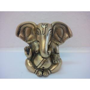 Ganesha lange Ohren 2 Arme aus Messing 0,32 Kg