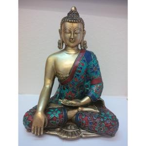 Buddha aus Messing 4,5 Kg, 29cm
