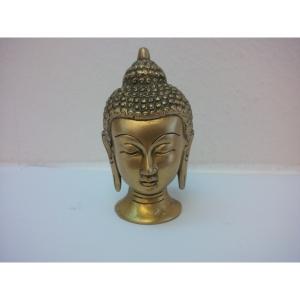 Buddha Kopf aus Messing 0,57 Kg