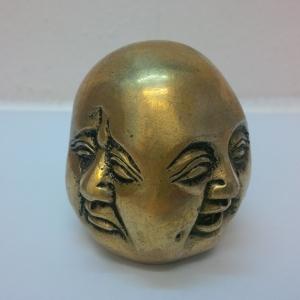 Buddah Kopf vier Emotionen 8 cm