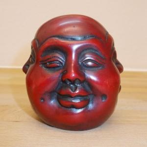 Buddha Kopf vier Emotionen 8,5 cm