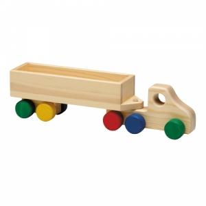 Holz-LKW- Container (BLAU-ROT) Abbildung ähnlich